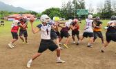 American Samoa's All-Star quarterback Francisco Mauigoa