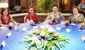 (l-r) Taiwan President Dr. Tsai Ing-Wen, RMI President Dr. Hilda Heine, Taiwan Foreign Minister Joseph Wu, and Congresswoman Aumua Amata