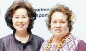 Congresswoman Amata with Elaine Chao