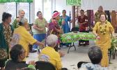 Amata at Pago Pago Village Senior Center during Town Hall