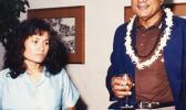Aumua Amata and H.E. Ratu Sir Kamisese Mara in 1983 photo