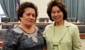 Congresswoman Amata with Transportation Secretary Elaine Chao