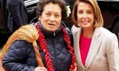 Congresswoman Amata with Speaker Pelosi after taking the Oath of Office in the 116th Congress