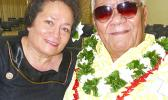 Congresswoman Aumua Amata and the late Aumoeualogo Te'o J. Fuavai.