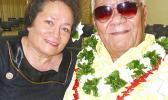 Congresswoman Aumua Amata and the late Aumoeualogo Te'o J. Fuavai.