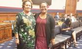 Congresswoman Amata and Teacher of the Year Jordanna Maga