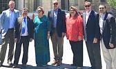 (l-r) Rep. Scott Peters, D-CA; Rep. Gus Bilirakis, R-FL; Rep. Amata, R-AS; Rep Ted Deutch, D-FL; Rep. Jenniffer Gonzalez-Colon, R-PR; Rep. Randy Weber, R-TX; Rep. Henry Cuellar, D-TX
