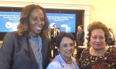 Congresswoman Amata with Congresswoman Plaskett of USVI (left) and Governor Leon Guerrero of Guam (center)
