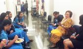Congresswoman Amata and a group of Close Up students