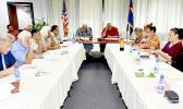 Members of the American Samoa governor's coronavirus task force and working group