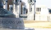 American Samoa and Guam pillars at National World War II Memorial in Washington D.C.