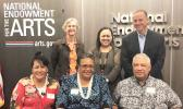 row, l-r: Joyce Purcell, Dr. Mary Lauagaia M. Taufete'e, Matina Purcell. Back row, l-r: Andi Mathis (National Endowment for the Arts), Pam Breaux (National Assembly of State Arts Agencies), Michael Orlove (National Endowment for the Arts).