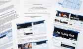 Pages from a confidential whistleblower's report on Facebook