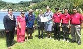 Taotasi Archie Soliai receiving power of attorney becoming the American Samoa Honorary Consul for the Republic of Korea.