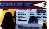 Sample American Samoa driver's license