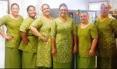 WIC office staff wishing American Samoa a Merry Christmas