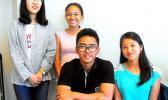 (left to right) Jingjing Jiang, Elysha Samatua, Mark Espiritu and Jean Paula Eseo