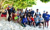 ASCC marine science students and Olosega Elementary School students