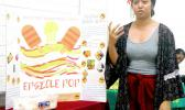 "Epifania Petelo explains the details of her original product the ""Epsicle Pop"""