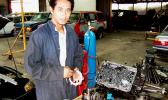 Young man in ASCC-TTD auto mechanic garage