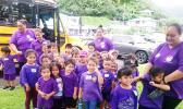 Little ones from Aua ECE, accompanied by their teachers