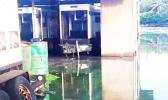 Flood waters surrounding a home in Aunu'u