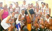 American Samoa women's basketball team that beat Tahiti 85 to 67