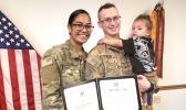 US Army Sgt. Fa'aati Lehualani Uluenga-Gillis with her family