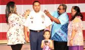 Sgt Major Pousima with family