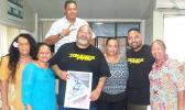 Samoa News staff members with cast of Take Home Pay