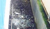 Broken glass at baseball field [Photo: Courtesy]