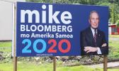 Mike Bloomberg campaign sign in American Samoa