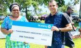 Bluesky presents $1,000 check
