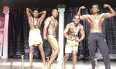 Some of the contestants who competed in different divisions of the Sau Ia Bodybuilding Competition that was held last Friday at the Gov. H. Rex Lee Auditorium in the evening.  [Photo: EM]