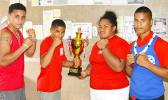Young boxing team from American Samoa when they first won the Samoa Teuila Boxing Championship last year.