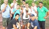 American Samoa's winning boxing team