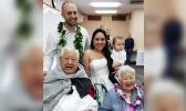 Bride and groom with her grandparents
