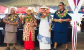 [l-r] Candidate for lieutenant governor, Sen. Fai'ivae Iuli Godinet, and his wife Ilaisa; and Mrs. Betty Gaoteote Tofau, and her husband, Senate President Gaoteote Palaie Tofau (candidate for governor)