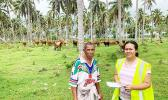 Farmer and Samoa Ministry of Agriculture and Fisheries staffer