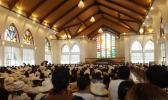 The opening of the Jubilee Church at Malua in May of last year saw hundreds of Samoa Congregational Christian Church members and special guests attend celebrations on Upolu. [Photo: Tipi Autagavaia / RNZI]