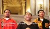 Three members of the Samoan Community Development Center Choir