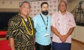 [-r] American Samoa Census Office Manager Meleisea Vai Filiga; US Census Bureau's 2020 Census Advisor to American Samoa, Jason Kopp; and Commerce director Fuiavailiili Keniseli Lafaele