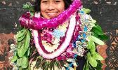 Cher Pelesia Nomura lea na mauaina le tulaga togisilia fa'atasi ma Esme Peck i le vasega fa'aiuaso a le Pacific Horizons School i lenei tausaga i le fa'auuga sa faia i le aso To'anai ua te'a. [ata: foa'i]