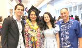 American Samoa native, Christina Regina Maiava Schaff (second from left), pictured with her husband, Kevin Schaff (far right) and the couple's two children following her graduation Wednesday from American Military University (AMU) in Washington D.C. where she received a Bachelor of Religion.