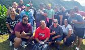 """Employees of the ASG Dept. of Human Resources (DHR) were among the many government workers taking part in the """"Island Wide Coastal Clean Up Day"""" last Friday."""