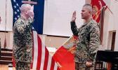 Commander Michael Tagaloa being sworn in