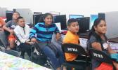 Forty-two youngsters from around the territory are using their summer months learning how to become web savvy, thanks to the free computer basic research course being administered by the Dept. of Youth and Women's Affairs. See story for full details. [photo: Blue Chen-Fruean]