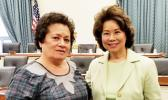 Congresswoman Amata and U.S. Transportation Secretary Elaine Chao earlier this year on Capitol Hill.