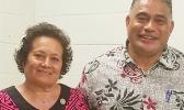 Aumua with DOH director Motusa Tuileama Nua.