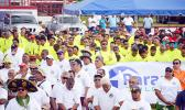 A look at the crowd of both public and private workers during Friday's ASG Workforce Day ceremony at Veterans Memorial Stadium in Tafuna.  [photo: AF]